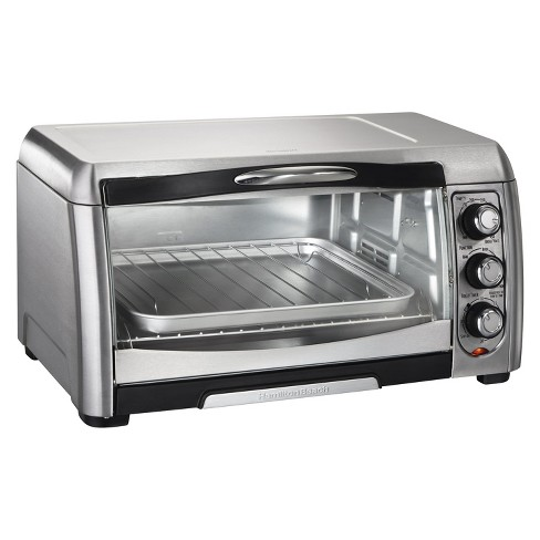 Hamilton Beach 6 Slice Convection Toaster Oven - Stainless Steel/Black- 31333 - image 1 of 4