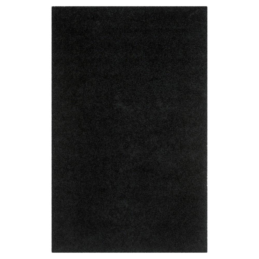 Black Solid Shag/Flokati Tufted Area Rug - (9'X12') - Safavieh