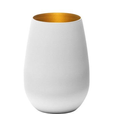 16.5oz 6pk Glass Olympia Tumbler Drinkware Set White/Gold - Stolzle Lausitz