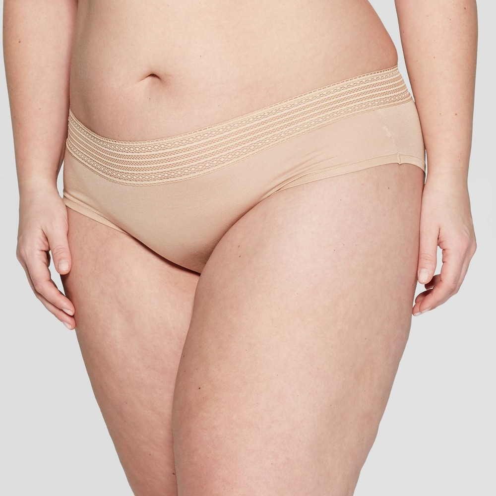 Women's Plus Size Modal Hipster - Auden Pearl Tan 4X