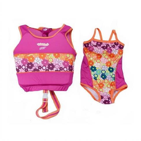 Aqua Leisure SwimSchool 4 to 6 Years 2 Piece Swim Trainer, Medium/Large, Pink - image 1 of 3