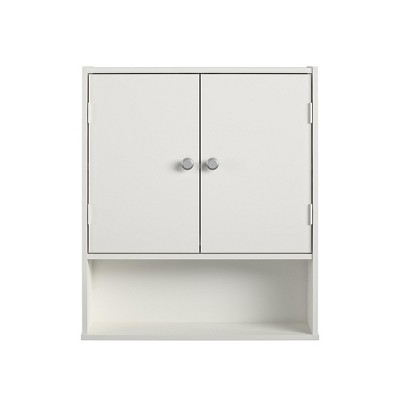 RealRooms Basin Wall Cabinet, Bathroom Storage Furniture, White
