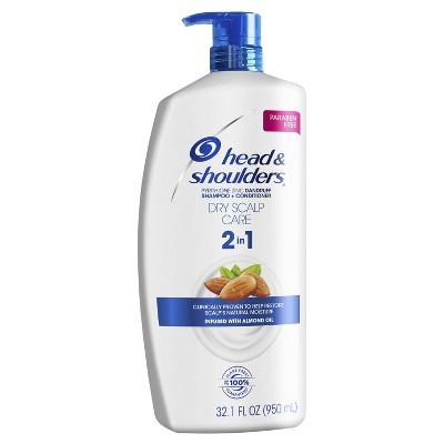 Head & Shoulders Dry Scalp Care 2-in-1 Dandruff Shampoo + Conditioner with Almond Oil