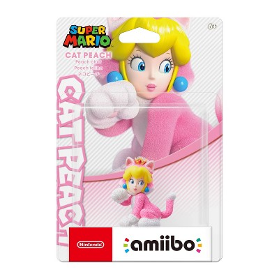 Nintendo Super Mario 3D World amibo Figure - Cat Peach