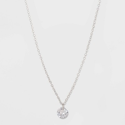 Sterling Silver with Cubic Zirconium Necklace - A New Day™ Silver