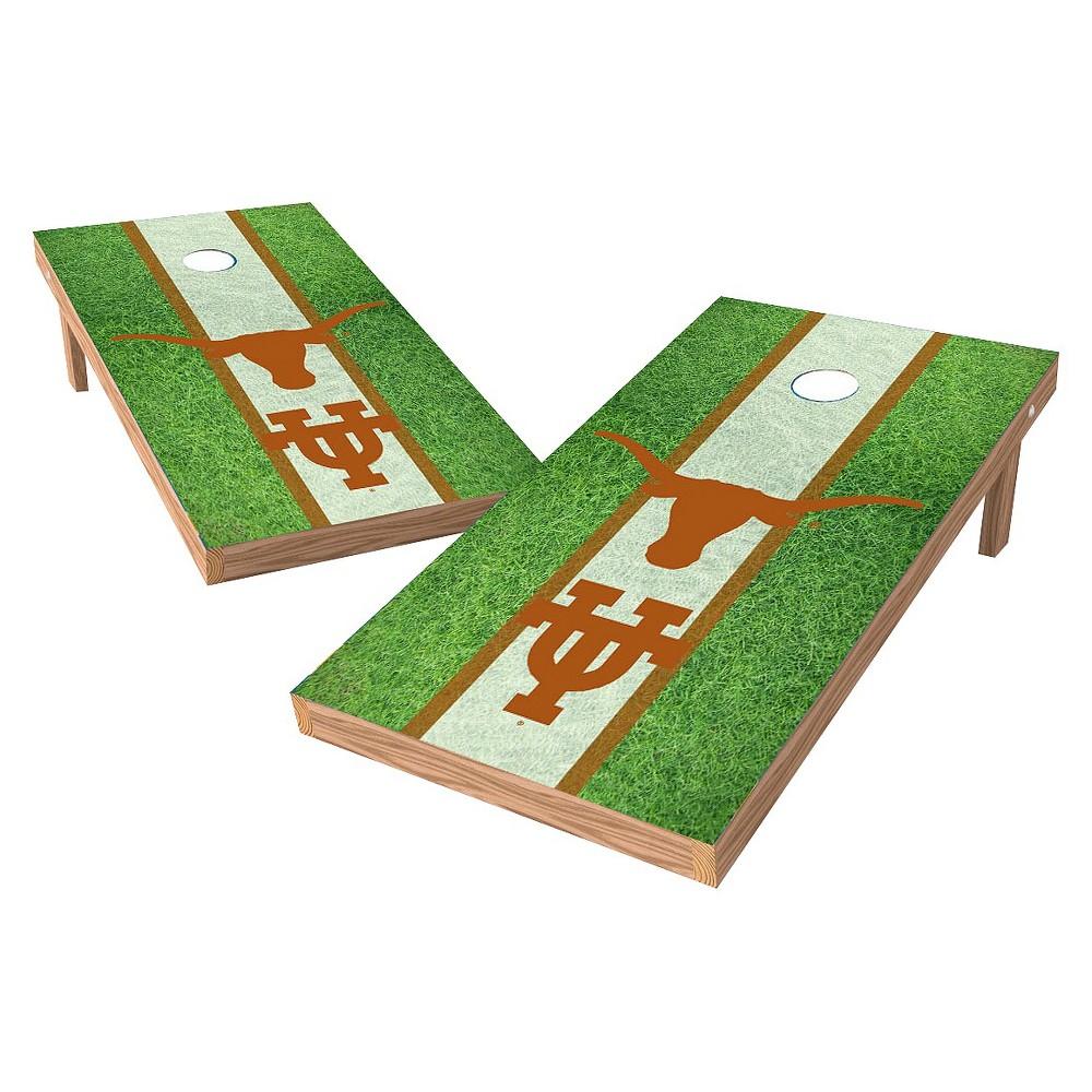 Texas Longhorns Wild Sports 2' x 4' Field Design Authentic Cornhole Set