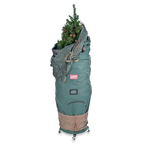 Christmas Tree Rolling Storage Bag.Tree Keeper Large Adjustable Upright Christmas Tree Protective Storage Bag W 2 Way Rolling Hold 7 Trees