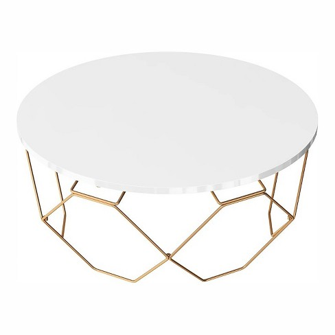 Kanter Round Coffee Table Gold, Gold Round Coffee Table
