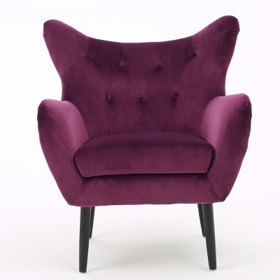 Alyssa New Velvet Armchair - Christopher Knight Home