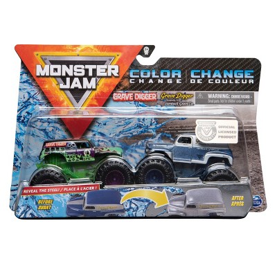 Monster Jam Grave Digger vs Grave Digger 1:64 Scale - 2pk