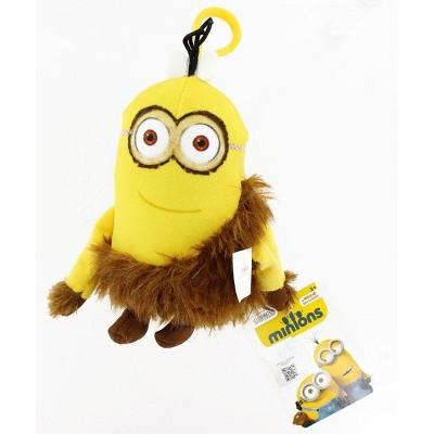 "Commonwealth Toys Minion Movie Jungle Minion (2 Eyes) Clip-On 5"" Plush"