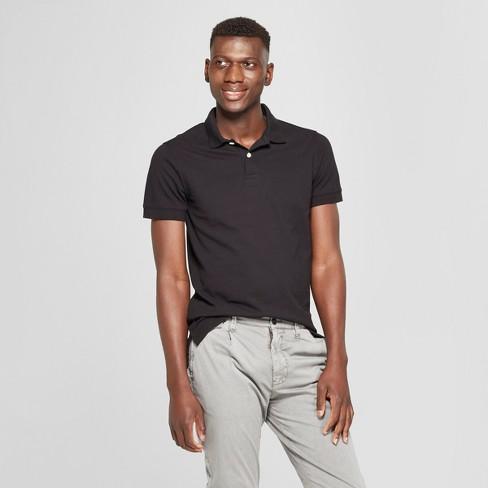 Men's Short Sleeve Slim Fit Loring Polo Shirt - Goodfellow & Co™ Black S