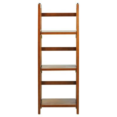 "38"" 3-Shelf Folding Bookcase - Flora Home"