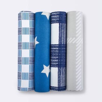 Flannel Baby Blankets Homespun Stars - Cloud Island™ Blue