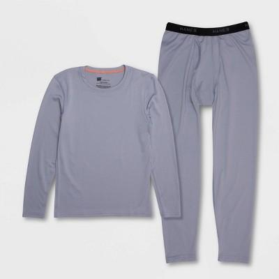Hanes Premium Boys' 2pc Thermal Underwear Set - Gray