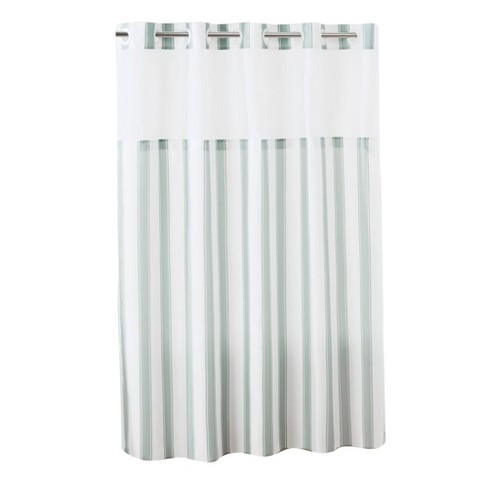Stripes Shower Curtain with Liner - Hookless - image 1 of 4