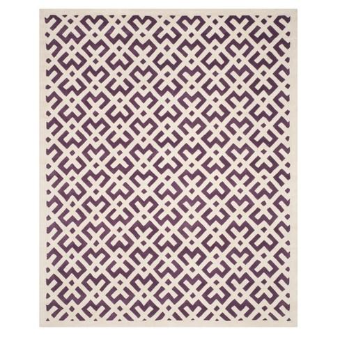 Purple/Ivory Geometric Tufted Area Rug 8'X10' - Safavieh - image 1 of 4