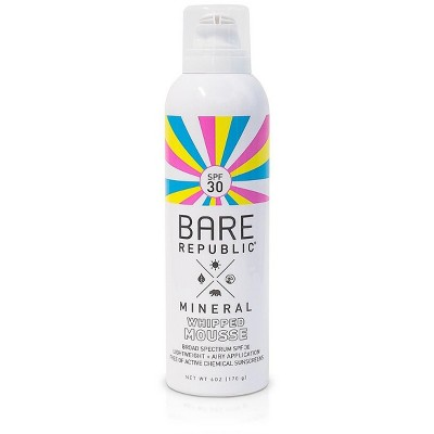 Sunscreen & Tanning: Bare Republic Whipped Mousse