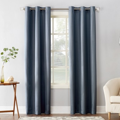 Cooper Textured Thermal Insulated Grommet Curtain Panel Blue 40 x84  - Sun Zero