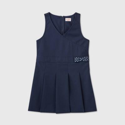 Girls' Uniform Jumpsuit Dress - Cat & Jack™ Navy