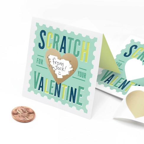 """""""From Jack"""" Scratch-Off Valentines Card Mint - image 1 of 4"""