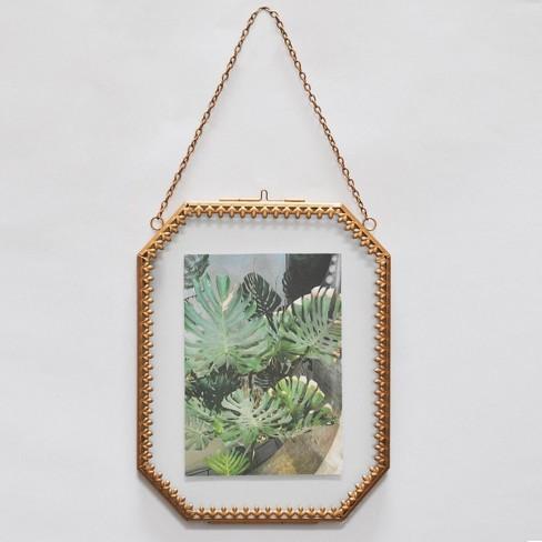 "5"" x 7"" Ornate Detail Frame Brass - Opalhouse™ - image 1 of 4"