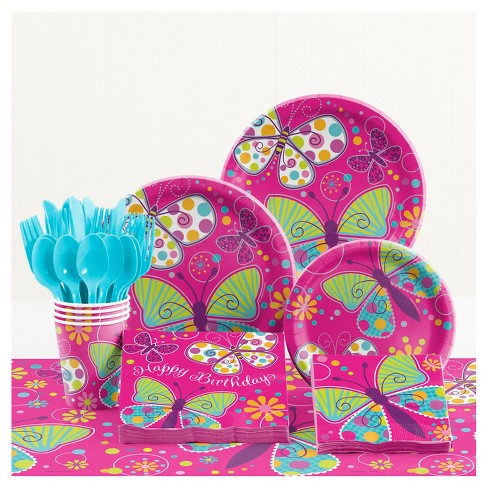 Butterfly Birthday Party Supplies Kit Target