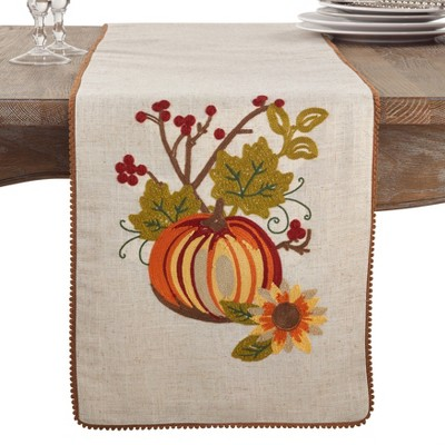 Neutral Pumpkin Table Runner - Saro Lifestyle