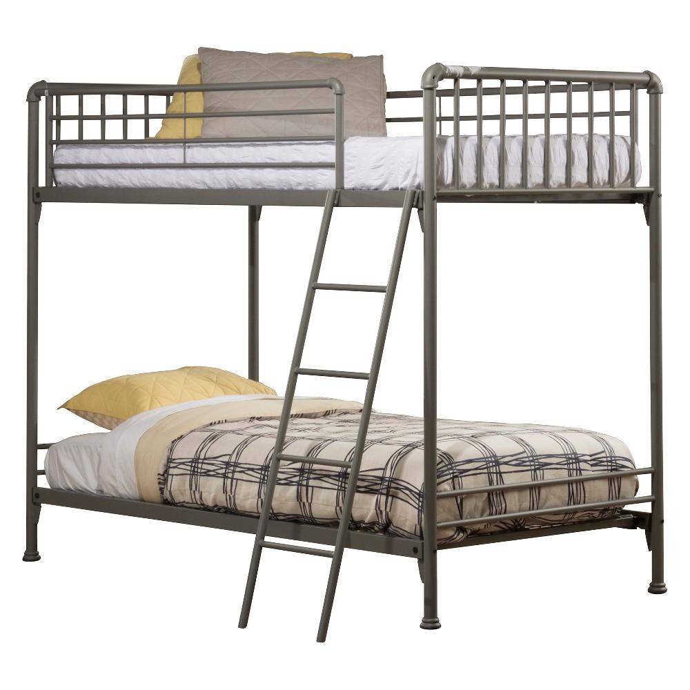 Brandi Metal Bunk Bed Twin/Twin Stone (Grey) - Hillsdale Furniture