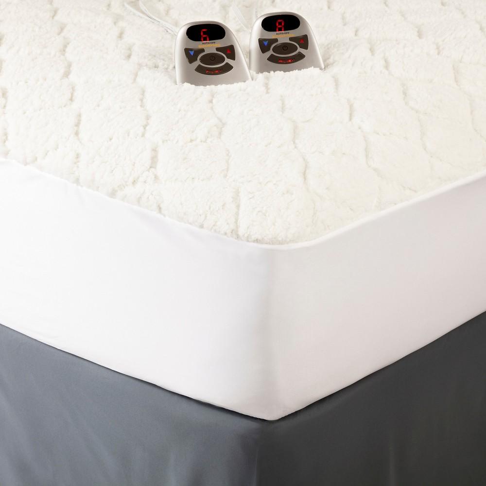 Image of Full Sherpa Heated Mattress Pad White - Biddeford