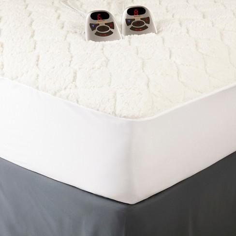 biddeford heated mattress pad king Sherpa Heated Mattress Pad White (King)   Biddeford : Target biddeford heated mattress pad king