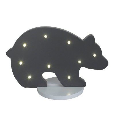Nojo Bear Nightlight Gray