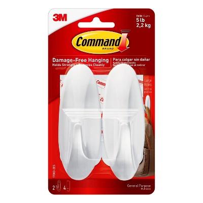 Command Designer Hooks (2 Hooks 4 Strips) White