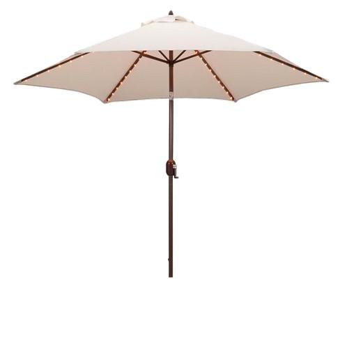 9 Round Lighted Patio Umbrella Canvas Target