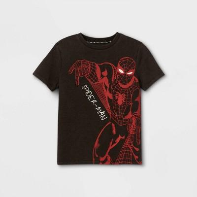 Boys' Spider-Man Short Sleeve Graphic T-Shirt - Black