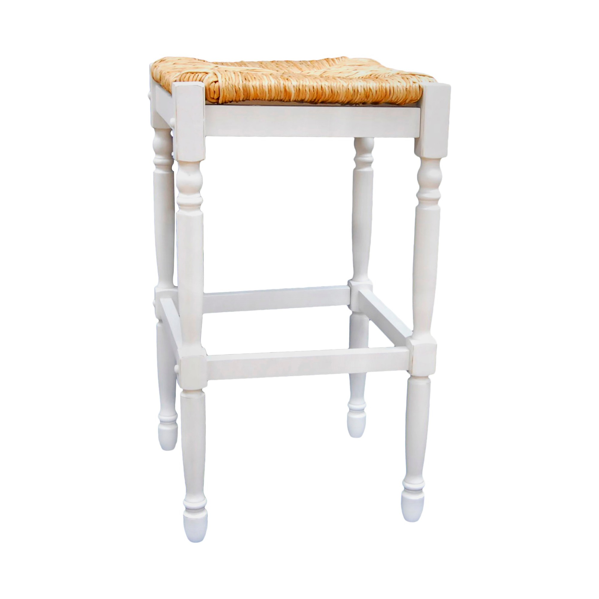 29.25 Turner Barstool Antique White - Carolina Chair and Table, Light Milk White