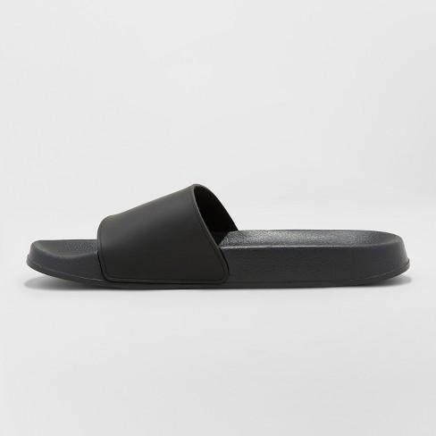 db32f6159d7a Men s Rickey Slide Sandals - Goodfellow   Co™ Black L   Target