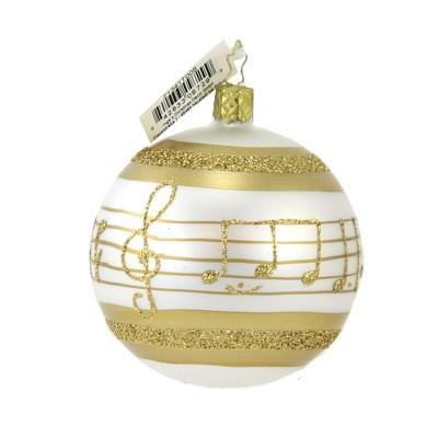 "Inge Glas 3.5"" Christmas Melody Ornament Ball Christmas Music  -  Tree Ornaments"