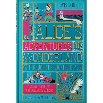 Alice's Adventures in Wonderland (Illustrated with Interactive Elements) - by  Lewis Carroll (Hardcover)