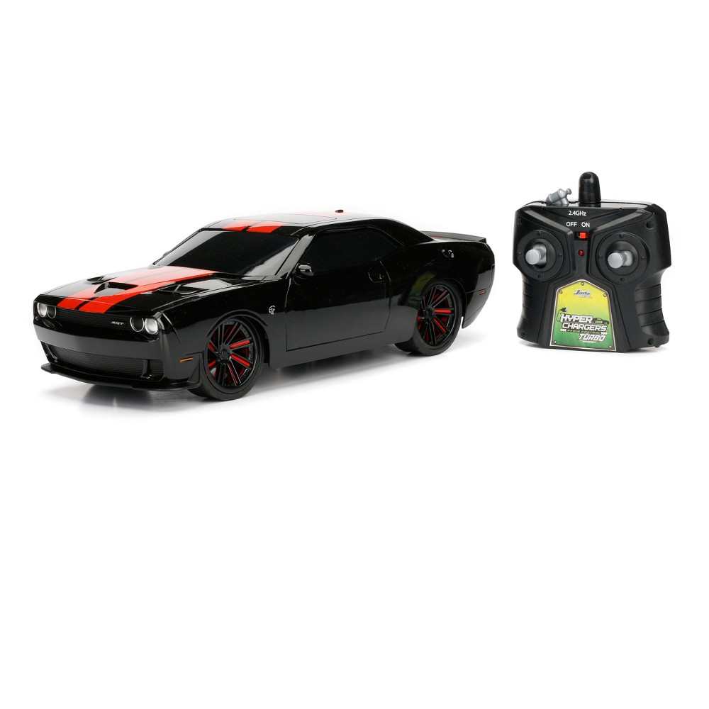 HyperChargers Big Time Muscle Radio Control RC Vehicle - 2015 Challenger Srt Hellcat - 1:16 - Black