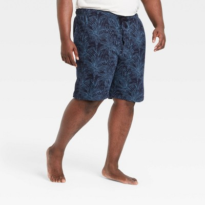"Men's Big & Tall 9"" Regular Fit Knit Pajama Shorts - Goodfellow & Co™ Blue"