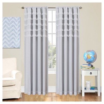 Ruffle Batiste Blackout Window Panel White - Eclipse My Scene