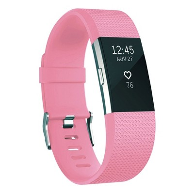 For Fitbit Charge 2 Band Replacement TPU Sport Wristband Strap Adjustable with Metal Buckle Clasp by Zodaca