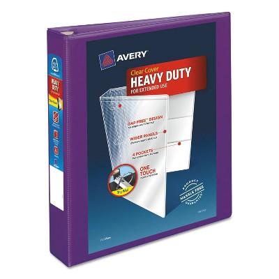 """Avery Heavy-Duty View Binder w/Locking EZD Rings 1 1/2"""" Cap Purple 79774"""
