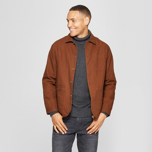 Men's Canvas Chore Blazer - Goodfellow & Co™ Stick Brown - image 1 of 3
