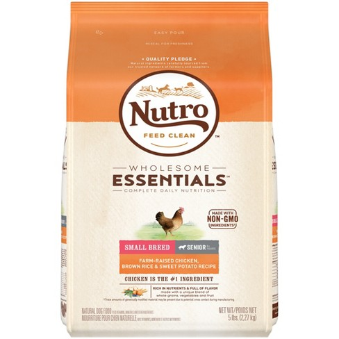 Nutro Wholesome Essentials Small Breed Senior Chicken & Rice Dry Dog Food - 5lb - image 1 of 5