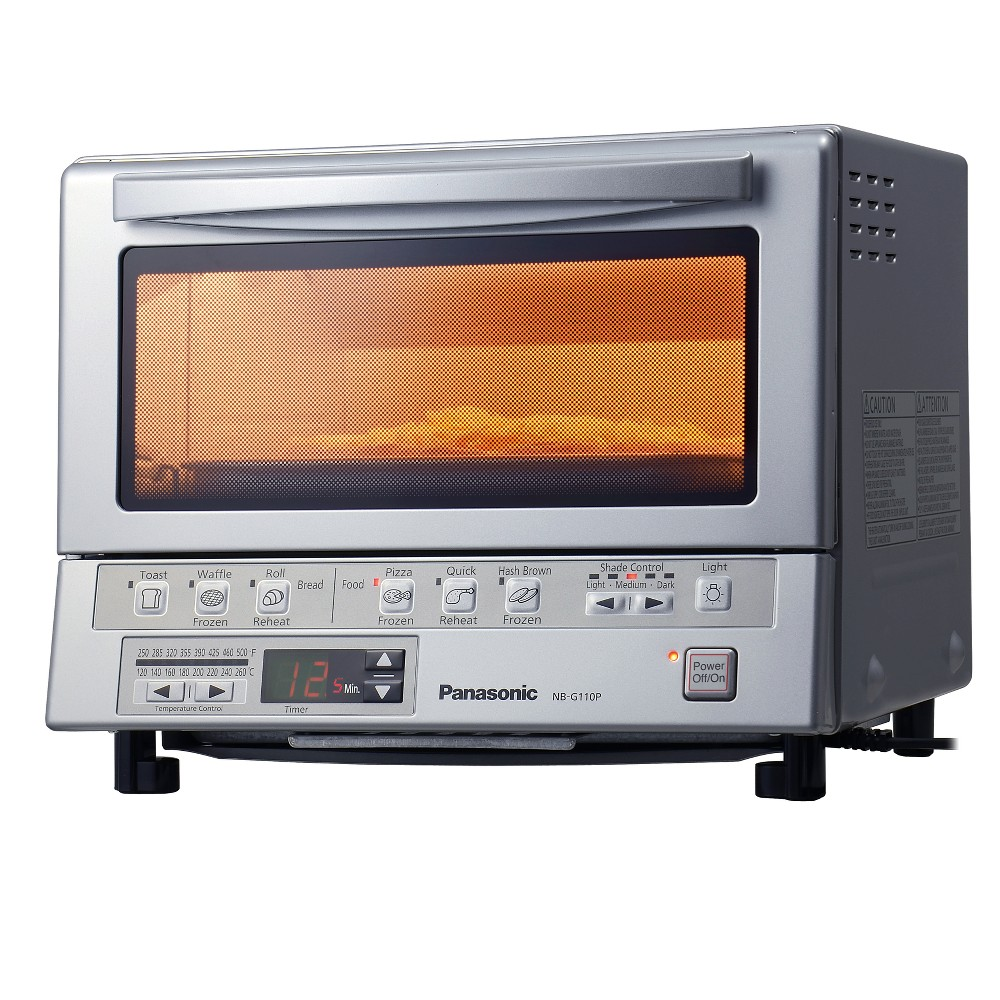Panasonic Flash Express Toaster Oven - Stainless Steel NB-G110P, Matte Silver