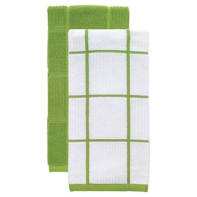 Green Parquet Kitchen Towel 2 Pack (16 x26 )T-Fal