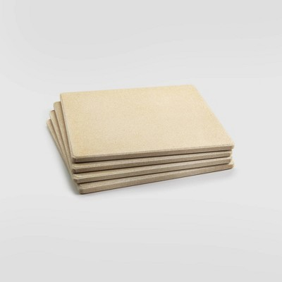 "4pk 7.5"" Pizza Grill Tile Beige - Outset"