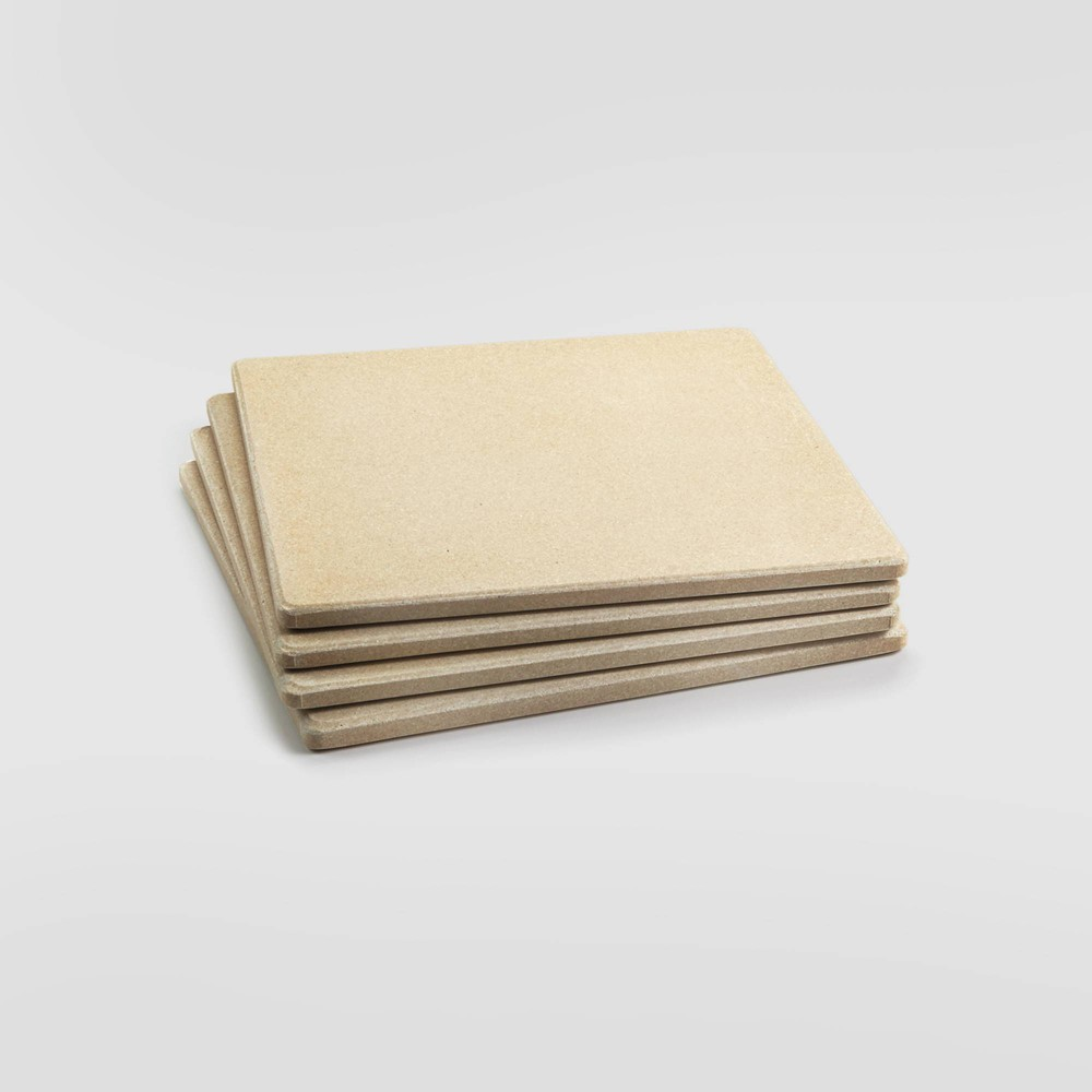"Image of ""4pk 7.5"""" Pizza Grill Tile Beige - Outset"""